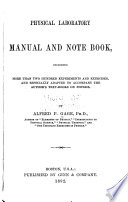Physical Laboratory Manual and Note Book Book