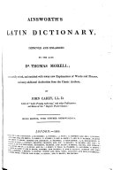 Ainsworth's Latin Dictionary