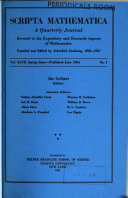 Scripta Mathematica