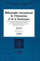 Bibliographie internationale de l'Humanisme et de la Renaissance