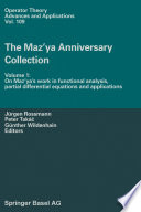 The Maz'ya Anniversary Collection