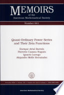 Quasi Ordinary Power Series and Their Zeta Functions