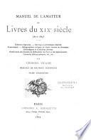 Manuel de l'amateur de livres du XIXe siècle