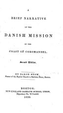 A Brief Narrative of the Danish Mission on the Coast of Coromandel