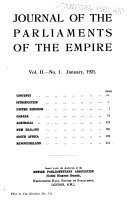Journal Of The Parliaments Of The Empire