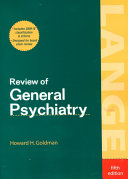 Review of General Psychiatry  Fifth Edition