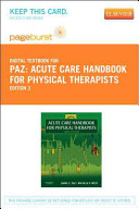 Acute Care Handbook for Physical Thetherapists Passcode
