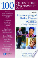 100 Questions Answers About Gastroesophageal Reflux Disease Gerd  Book PDF