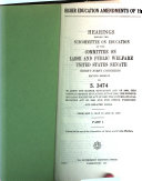 Higher Education Amendments of 1970: Hearings, Ninety-first ...