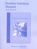 Cover of Student Solutions Manual for Probability and Statistics