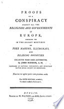 Postscript to the second edition of Mr. Robison's Proof of a Conspiracy against all the Religions and Governments of Europe, etc
