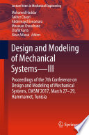 Design and Modeling of Mechanical Systems—III