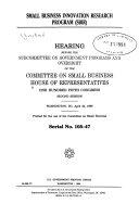 Small Business Innovation Research Program (SBIR)