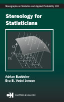 Stereology for Statisticians
