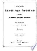Jakob Sutor's künstliches Fechtbuch zum Nutzen der Soldaten, Studenten und Turner