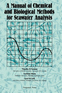 A Manual of Chemical & Biological Methods for Seawater Analysis