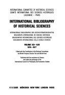 Bibliographie Internationale Des Sciences Historiques