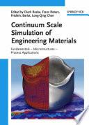 Continuum Scale Simulation of Engineering Materials Book