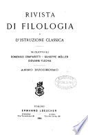 rivista di filologia