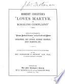 Robert Chester S Love S Martyr Or Rosalins Complaint 1601  Book PDF