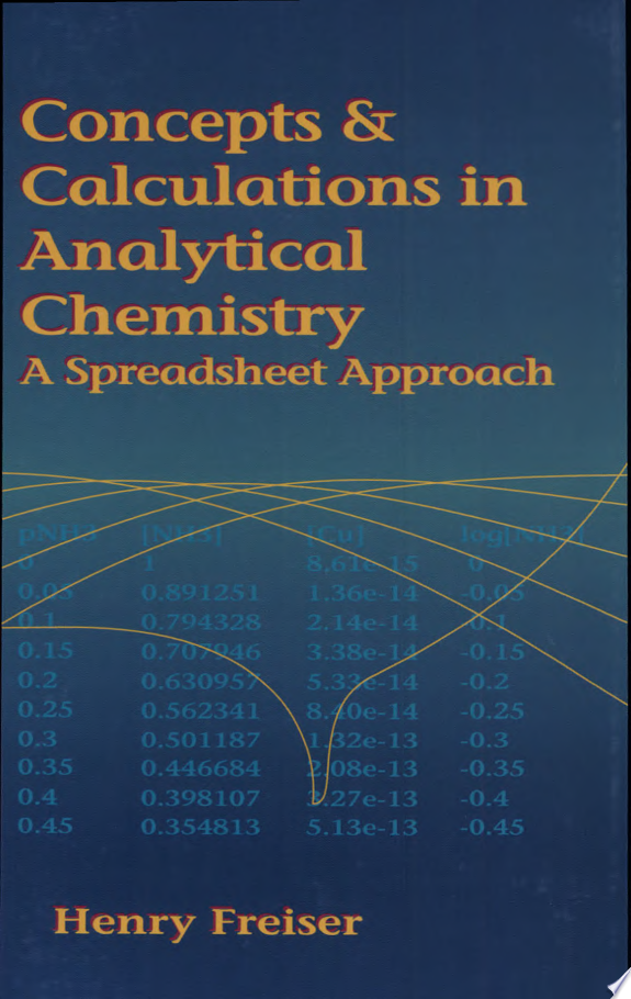 Concepts   Calculations in Analytical Chemistry  Featuring the Use of Excel