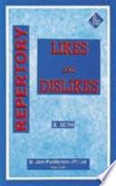 Repertory Of Likes And Dislikes