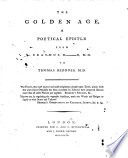 The Golden Age  a Poetical Epistle Book