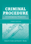 Criminal Procedure: A Contemporary Perspective