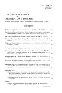 The American Review of Respiratory Diseases