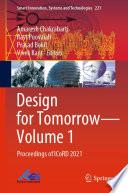 Design for Tomorrow--Volume 1