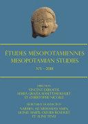 Pdf Études Mésopotamiennes – Mesopotamian Studies: N°1 – 2018 Telecharger