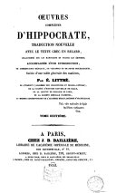 Oeuvres complètes d'Hippocrate, 8