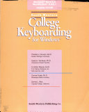 South-Western college keyboarding for Windows