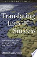 Translating Into Success Book