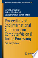 Proceedings of 2nd International Conference on Computer Vision   Image Processing