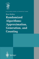 Randomized Algorithms  Approximation  Generation  and Counting