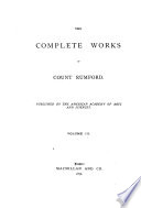 The Complete Works of Count Rumford