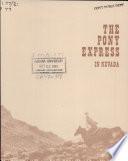 The Pony Express in Nevada