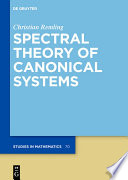 Spectral Theory of Canonical Systems