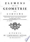 Elemens de la geometrie de l'infini