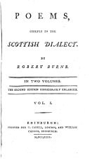 Poems  Chiefly in the Scottish Dialect