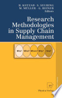 Research Methodologies in Supply Chain Management Book
