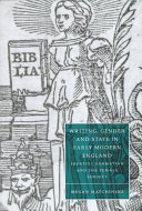 Writing  Gender and State in Early Modern England