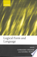 Logical Form and Language Book PDF