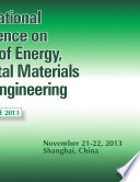 International Conference on Frontiers of Energy  Environmental Materials and Civil Engineering  FEEMCE 2013