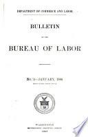 Bulletin of the Bureau of Labor