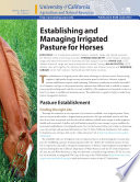 Establishing and Managing Irrigated Pasture for Horses Book