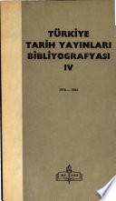 Türkiye tarih yayınları bibliyoğrafyası: 1978-1984