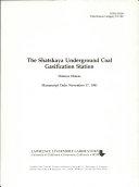 The Shatskaya Underground Coal Gasification Station