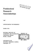 Resident Research Associateships  Postdoctoral and Senior Research Awards